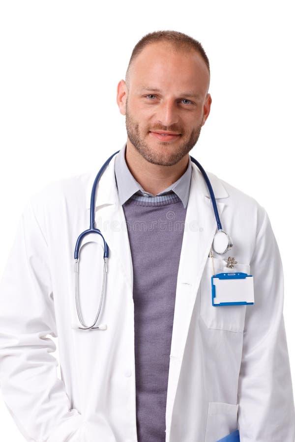 Portret van mannelijke arts stock foto's