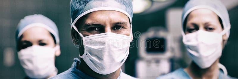 Portret van mannelijke en vrouwelijke artsen royalty-vrije stock foto's