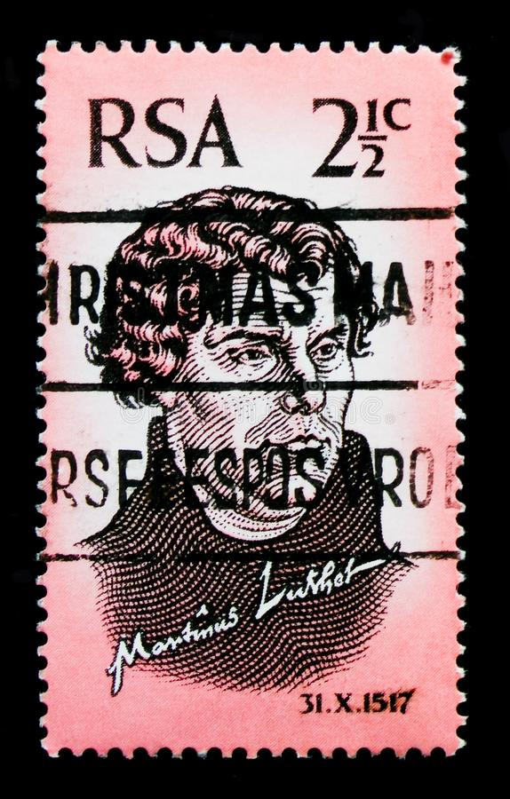 portret van Martin Luther 1483-1546, Hervorming ` 450 ` serie, circa 1967 stock foto