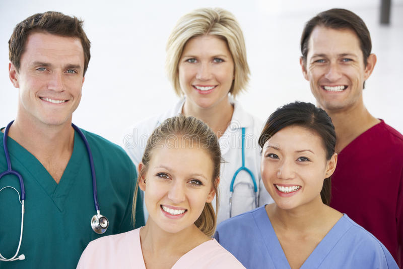 Portret van medisch team royalty-vrije stock afbeeldingen