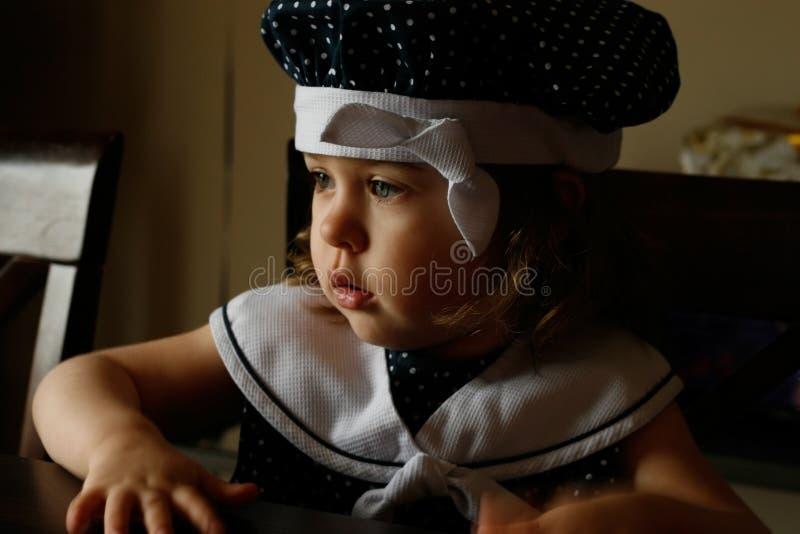Portret van Meisje in het Licht van het Venster royalty-vrije stock fotografie
