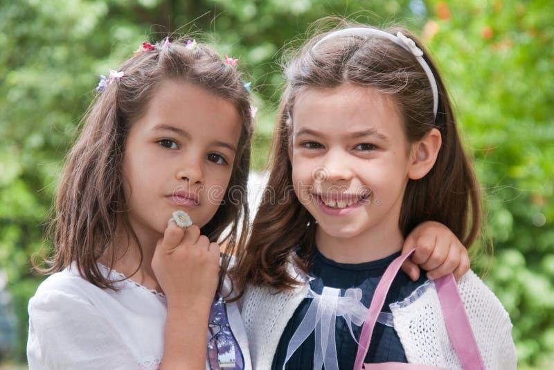 Portret van meisjes stock afbeeldingen