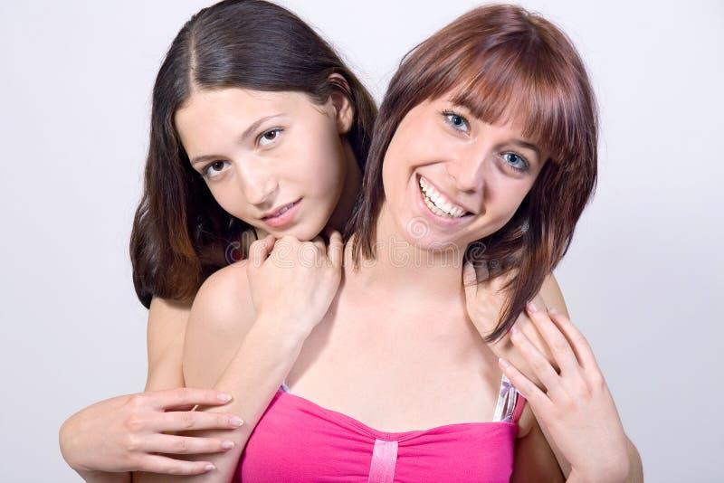 Portret van meisjes royalty-vrije stock fotografie