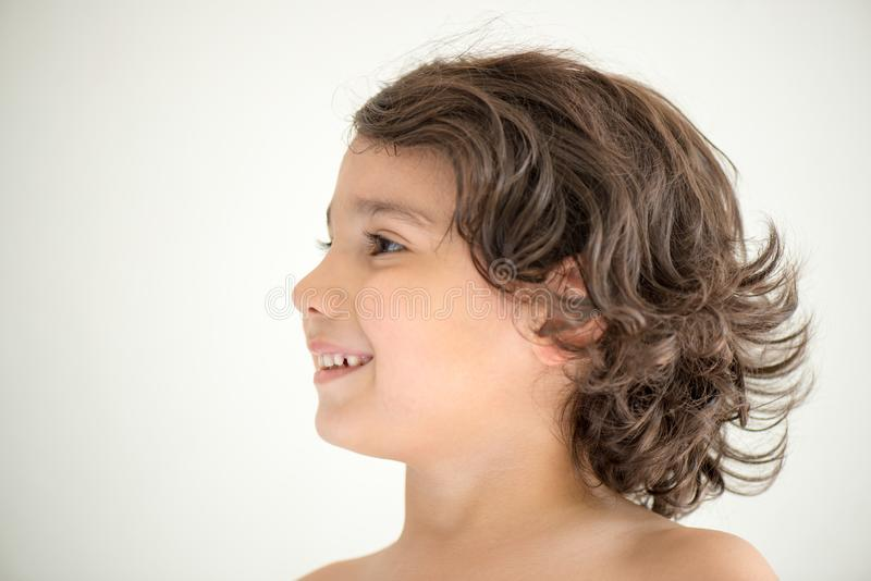 Portret van modeljongen stock afbeeldingen