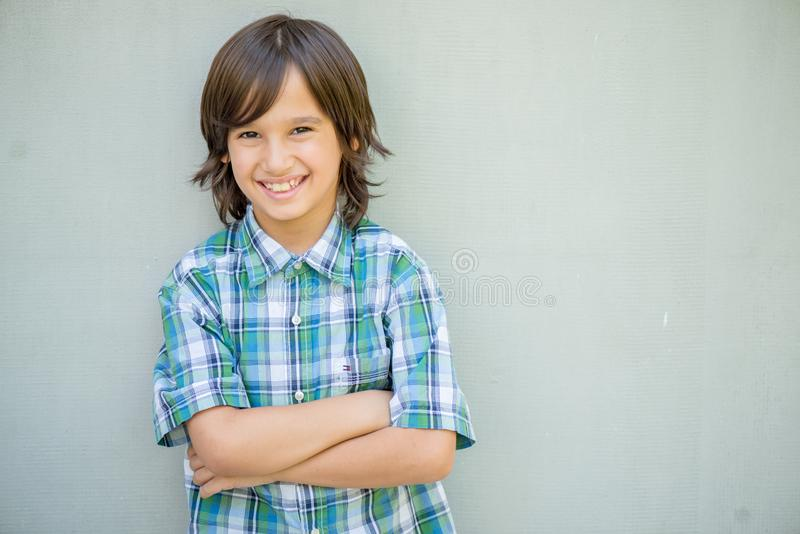 Portret van modeljongen stock fotografie