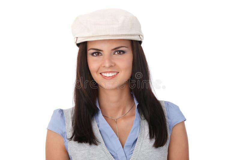 Portret van mooi glimlachend meisje stock afbeelding