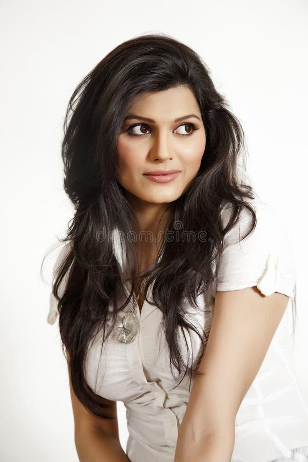 Portret van mooi Indisch meisje stock afbeelding
