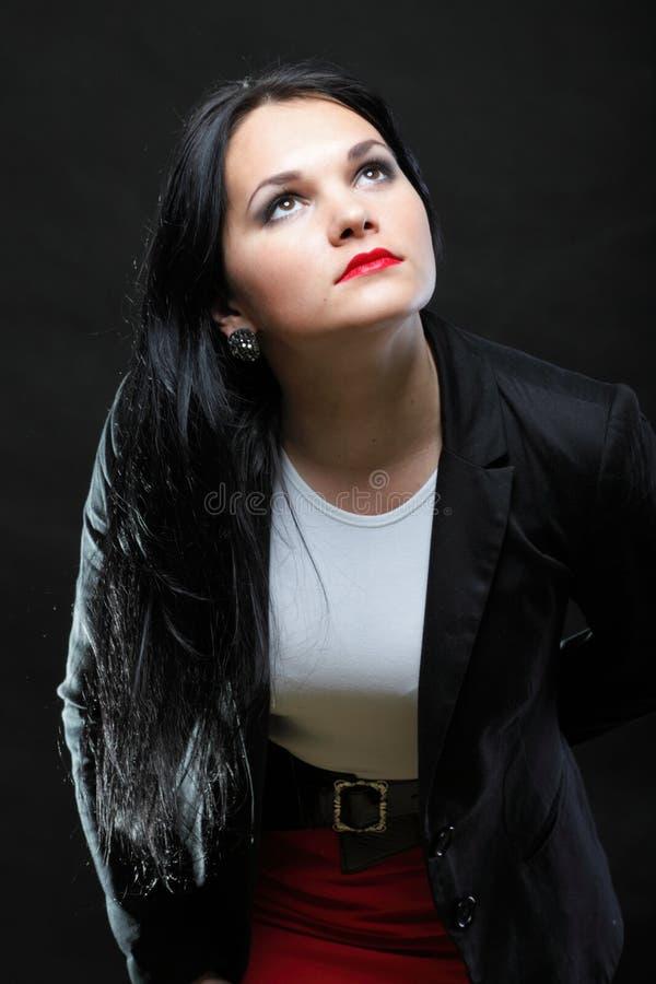 Portret van mooi jong brunette royalty-vrije stock afbeeldingen