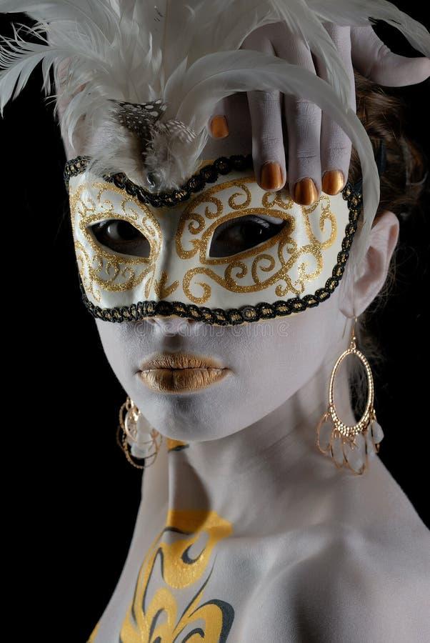 Portret van mooi jong meisje royalty-vrije stock foto's