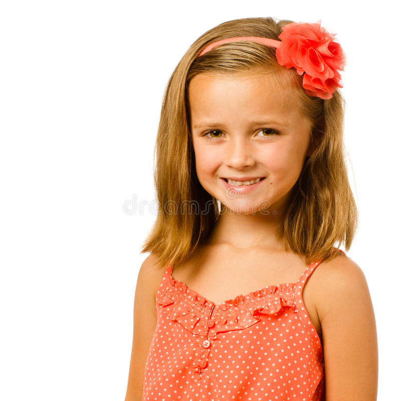 Portret van mooi kind stock foto