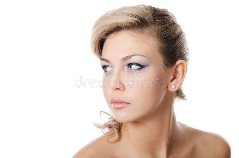 Portret van mooi meisje - Creatieve samenstelling royalty-vrije stock afbeeldingen