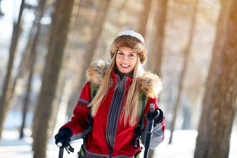 Download Portret Van Mooi Meisje Op De Winter Stock Foto - Afbeelding bestaande uit apparatuur, gelukkig: 107706100
