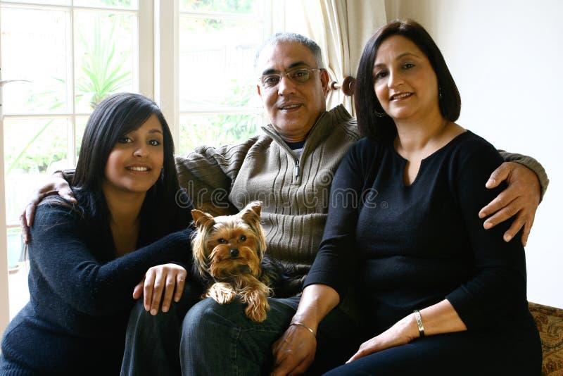 Portret van mooie Aziatische familie royalty-vrije stock foto