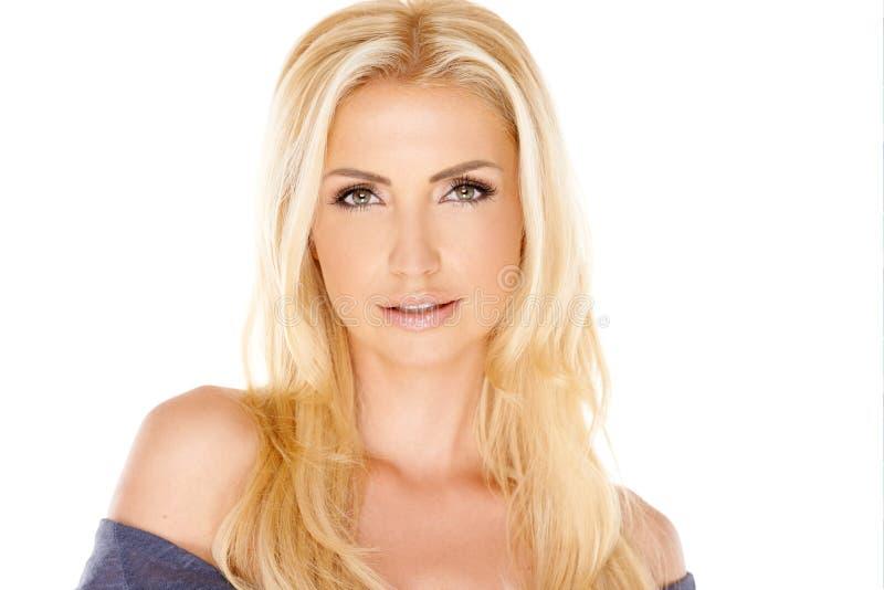 Portret van mooie blond stock fotografie