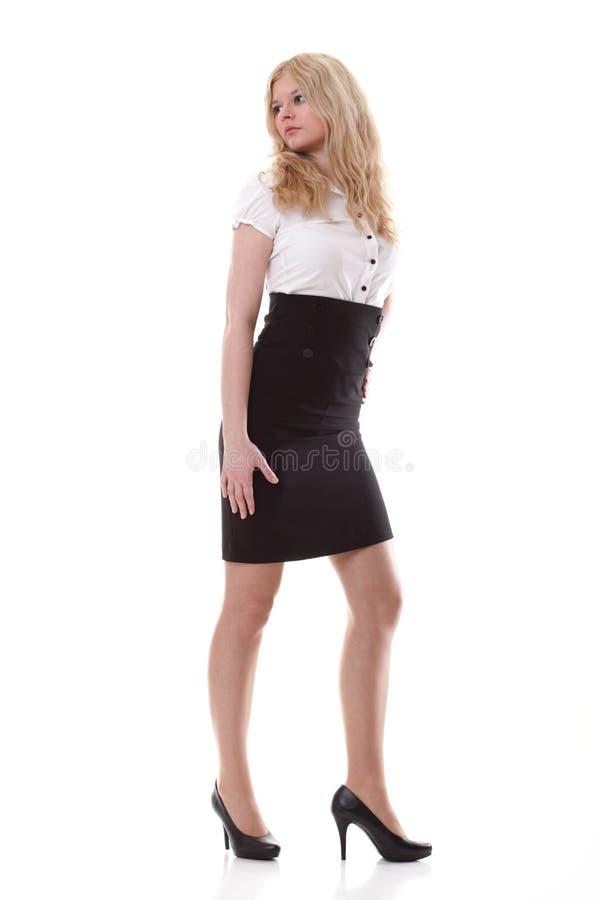 Portret van mooie blondevrouw stock afbeeldingen