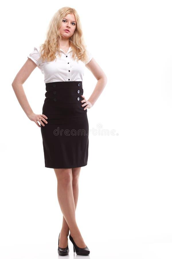 Portret van mooie blondevrouw royalty-vrije stock fotografie