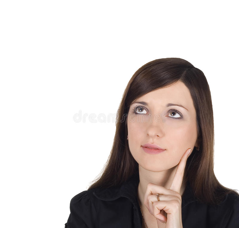 Portret van mooie brunette stock fotografie