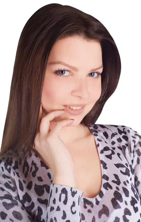 Portret van mooie brunette stock foto