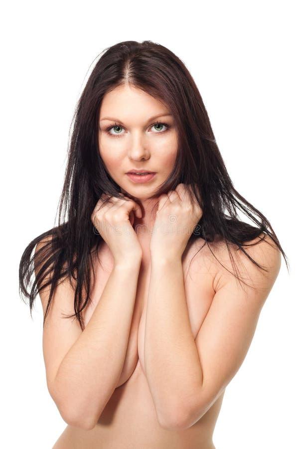 Portret van mooie en sexy vrouw stock foto