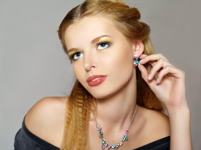 Portret van mooie jonge mannequin royalty-vrije stock foto
