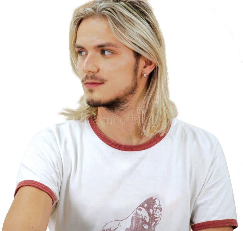 Portret van mooie kerel royalty-vrije stock afbeelding