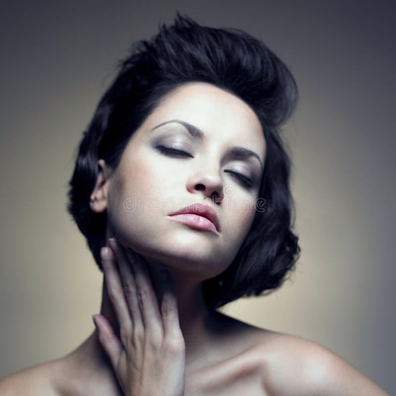 Portret van mooie sensuele vrouw stock foto