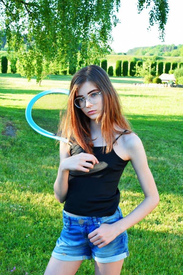 Portret van mooie tiener royalty-vrije stock foto's