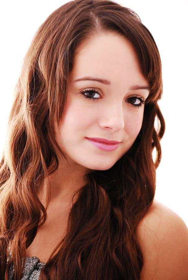 Portret van mooie tiener royalty-vrije stock fotografie