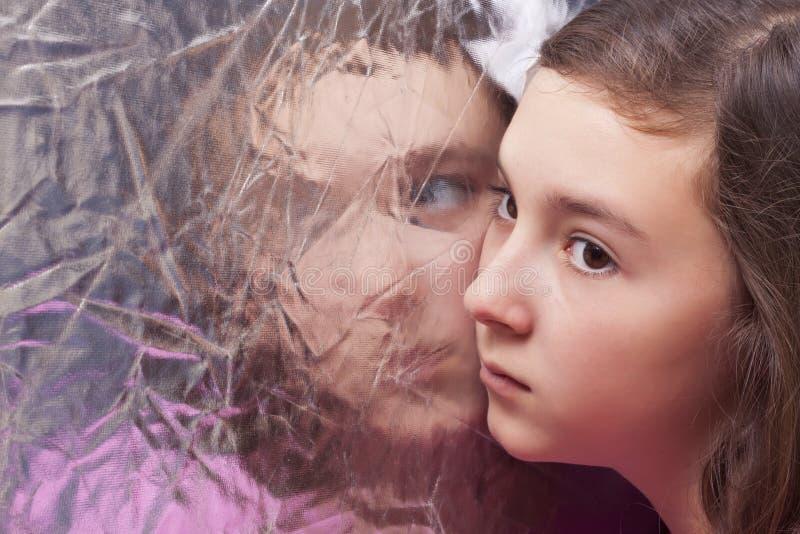 Portret van mooie tiener stock afbeeldingen