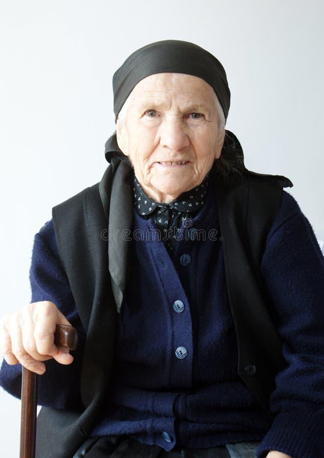 Portret van oude vrouw royalty-vrije stock fotografie