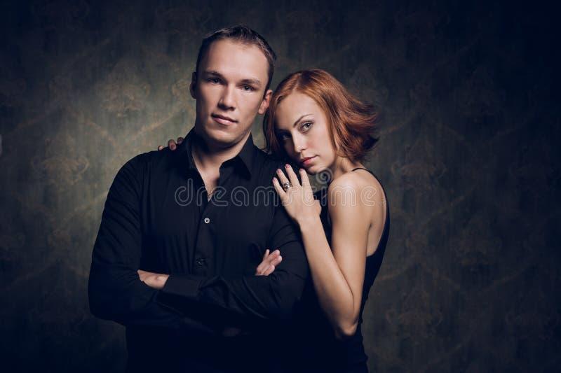 Portret van paar in liefde royalty-vrije stock afbeeldingen