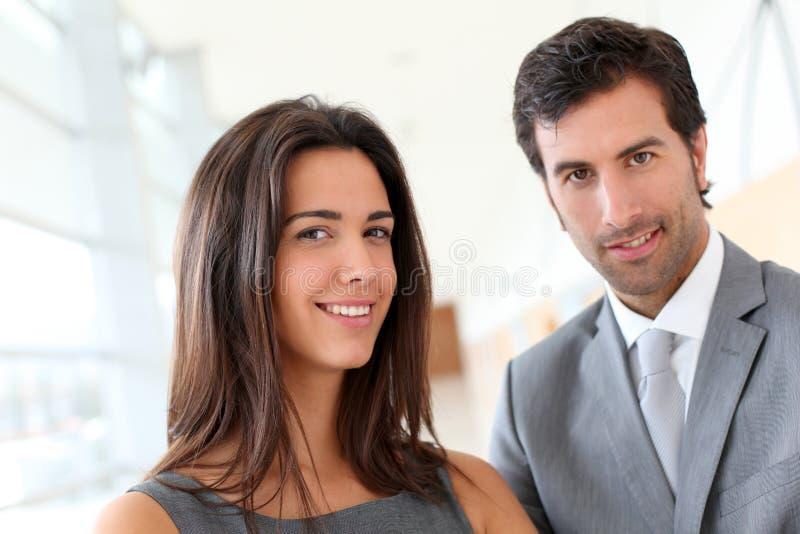 Portret van partners stock foto's