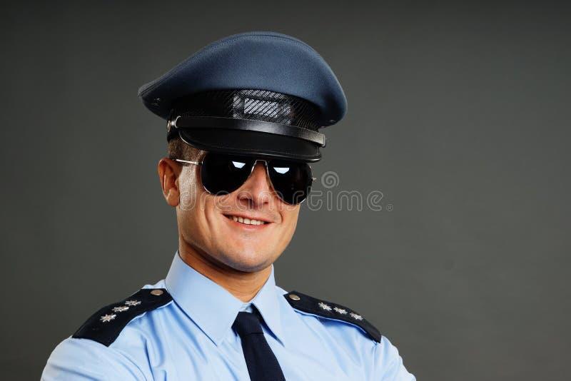 Portret van politieagent stock fotografie