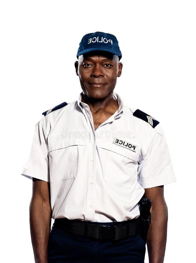 Portret van politieagent in studio royalty-vrije stock fotografie
