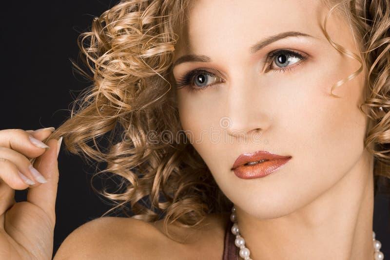 Portret van prachtige vrouw royalty-vrije stock foto