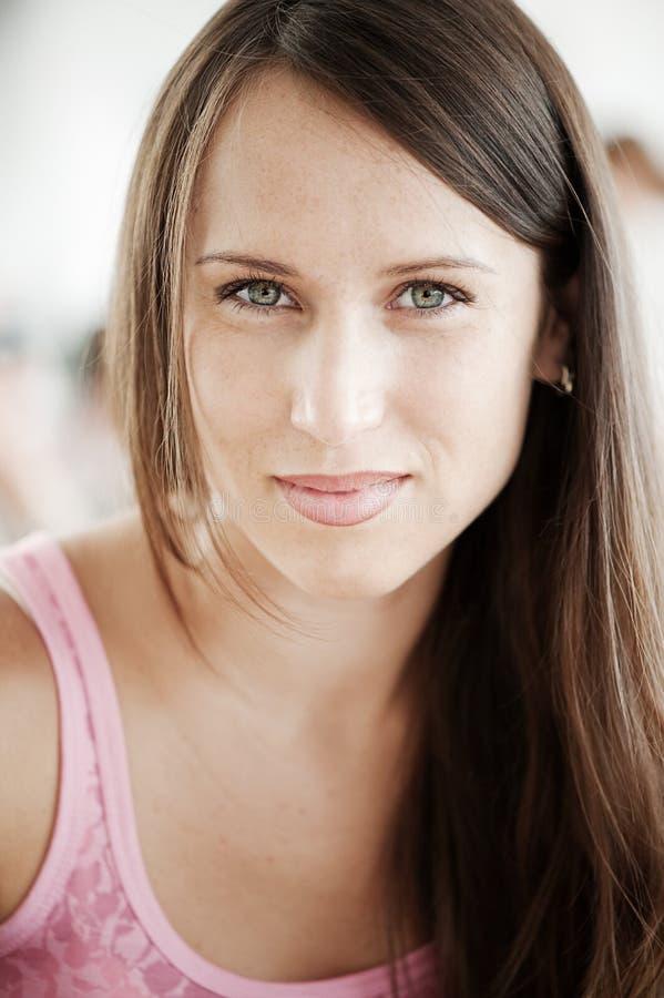 Portret van prettige vrouw stock fotografie