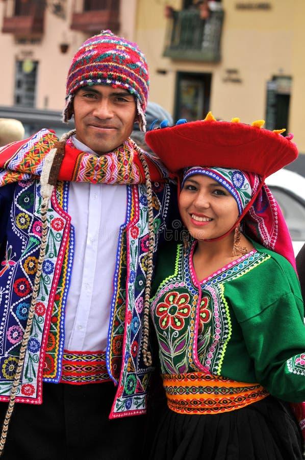 Portret van Quechua Mens en Vrouw royalty-vrije stock foto