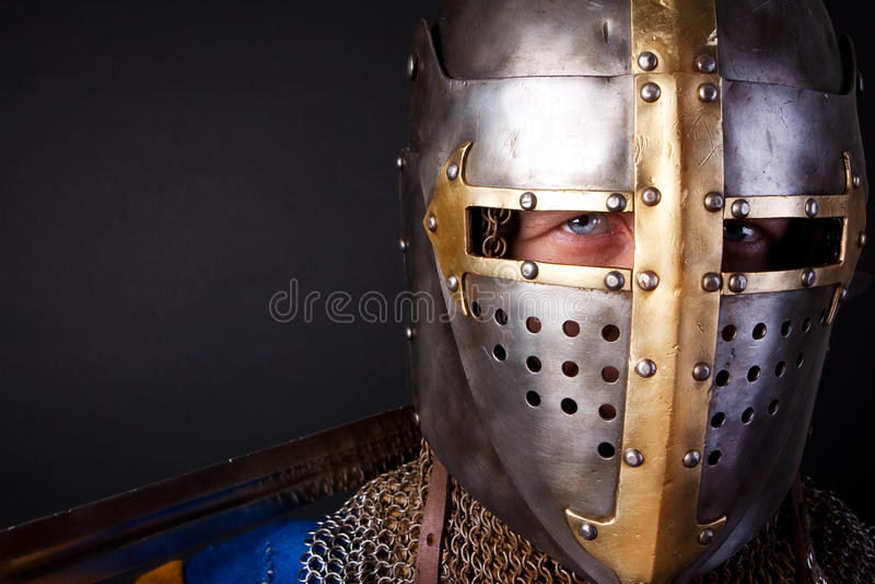 Portret van ridder royalty-vrije stock foto