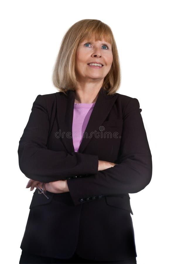 Portret van Rijpe Onderneemster stock foto