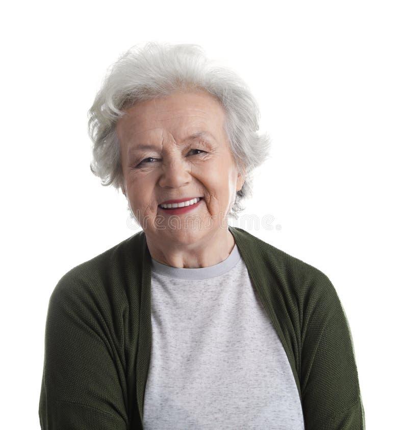 Portret van rijpe vrouw royalty-vrije stock afbeeldingen
