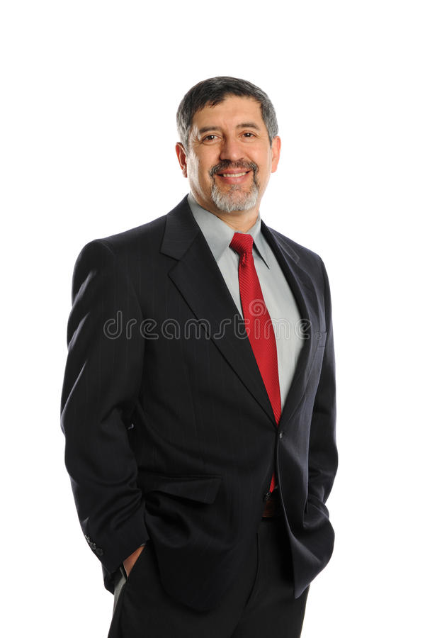 Portret van rijpe zakenman royalty-vrije stock afbeeldingen