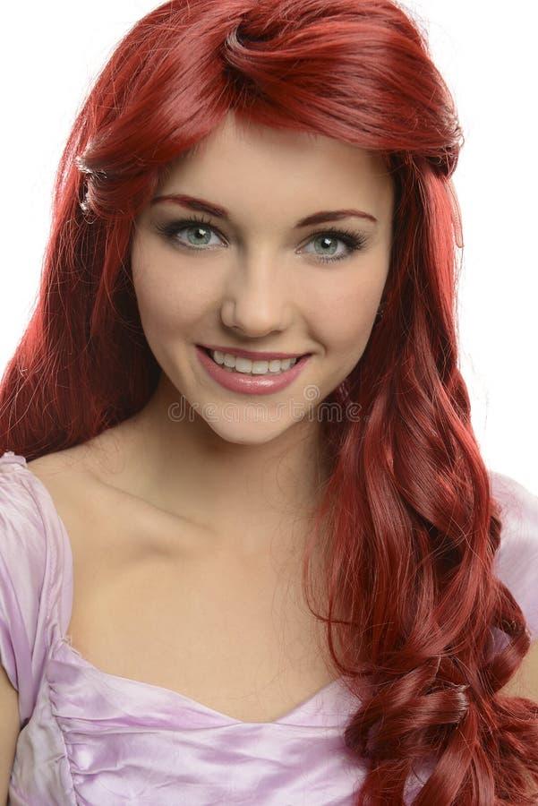 Portret van rode geleide prinses stock fotografie