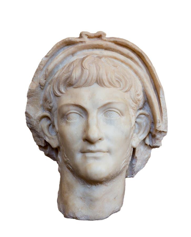 Portret van Roman keizer Nero (regeert geïsoleerde ADVERTENTIE 54-68), royalty-vrije stock afbeeldingen