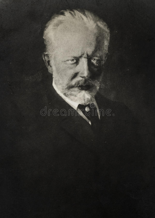 Portret van Russische componist Pyotr Ilyich Tchaikovsky royalty-vrije stock fotografie