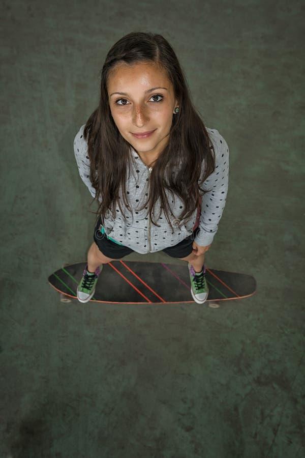 Portret van schaatser royalty-vrije stock afbeelding