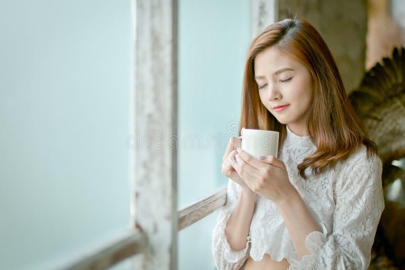 Portret van schitterende jonge donkerbruine vrouw stock afbeelding