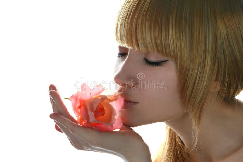 Portret van schoonheidsmeisje. stock afbeeldingen