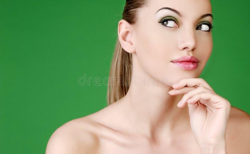 Portret van sexy vrouw royalty-vrije stock foto's