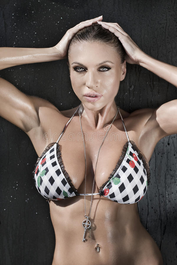 Portret van sexy vrouw royalty-vrije stock fotografie