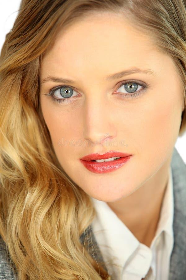 Portret van sierlijk blonde stock foto